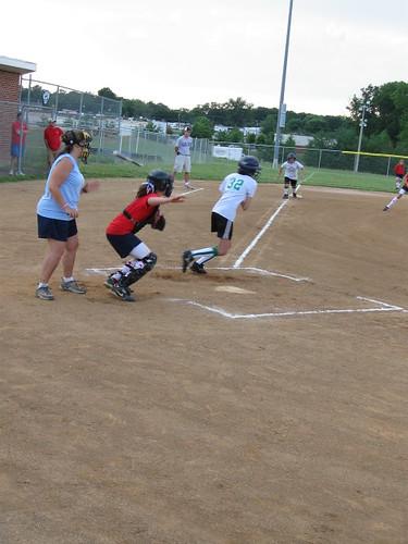 Ms. Artistic (aka Dott) hit the ball... look at that bat fly!