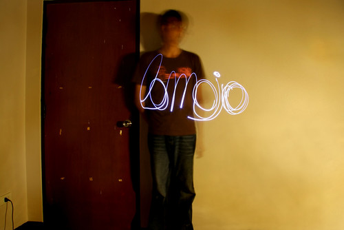 self portrait with light paint