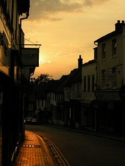 George Street in St Albans at sunset