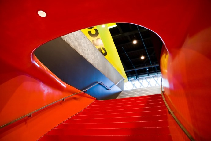 Red in Seattle Central Library (by Phanix)