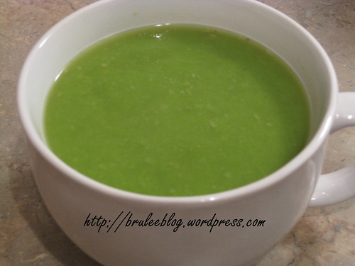Pea and ginger soup