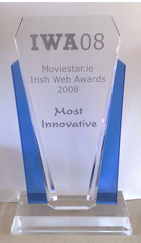 Irish Web Awards Trophy