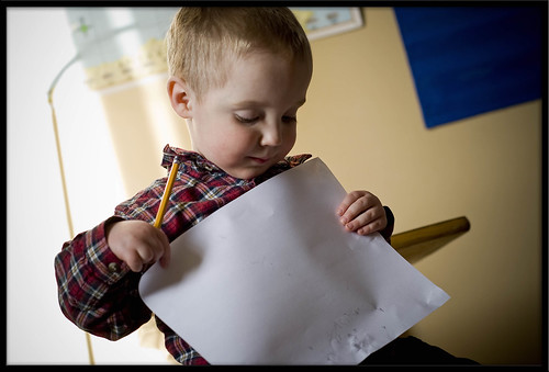 Baby shows his work1