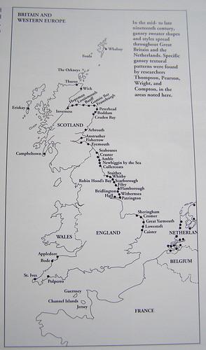 "Map from ""Knitting Ganseys"""