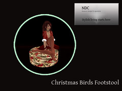 christmas birds footstool
