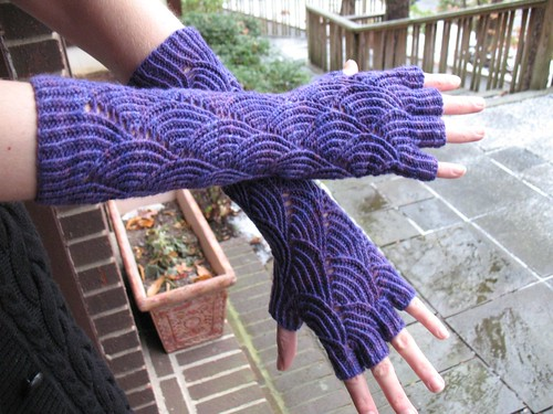 Finished Mermaid Gloves