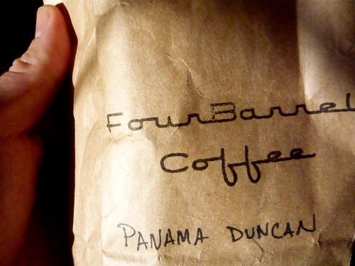 Four Barrel's né Stumptown's Panama Duncan