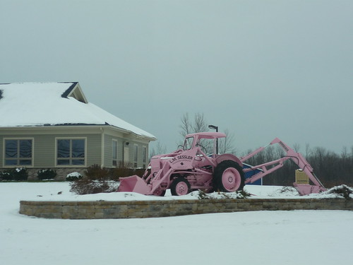 A pink tractor, Finger Lakes, NY