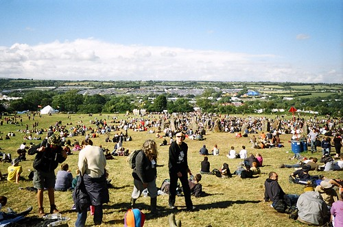 Glastonbury sunshine
