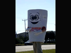Mr. Coffee Cup:  The Dunkin' Donut Man