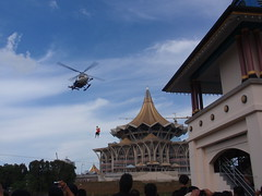 Low Flying Helicopter In Action