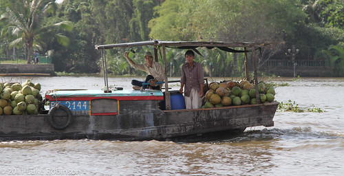 Fruit boat on the Saigon River
