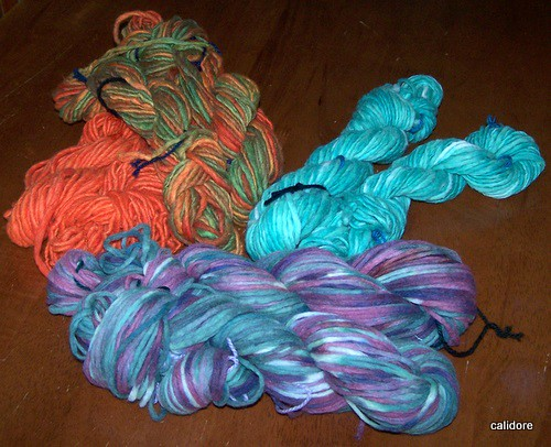 hand dyed with procion dyes
