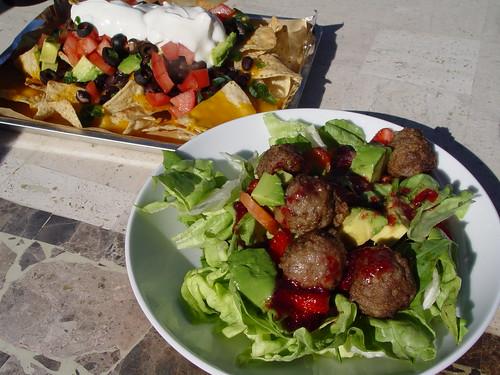 Ikea salad and nachos