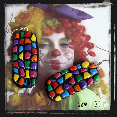 Orecchini multi colore - multi colour earrings MEHMKMC