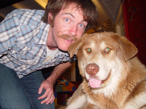 Thats my BF and the guest dog.
