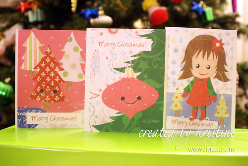 Christmas 08 Cut cards