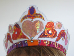 a child's crown on a child's head