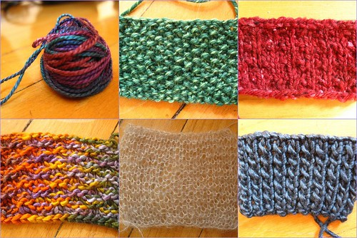 yarn tasting swatches