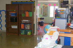 Most of my classroom is now in the hallway.
