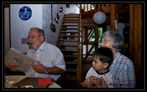 Opa turned 70, opening presents at Breakfast
