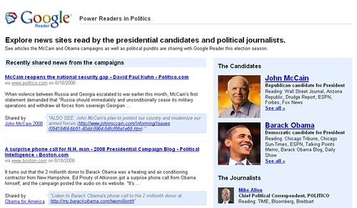 Power Readers in Politics