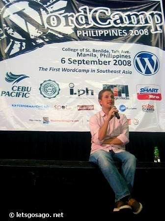 Matt Mulenweg @ Wordcamp Manila