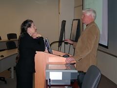 Miriam Kahn and David Dagg compare notes