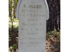 E. Allen tombstone