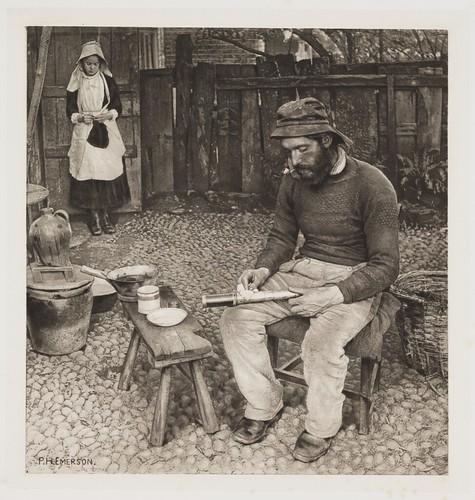 a fisherman at home