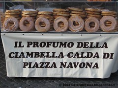 Donuts for sale, Piazza Navona by nyc/caribbean ragazza