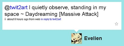I quietly observe, standing in my space ~ Daydreaming [Massive Attack]