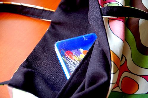 pocket inside the bag