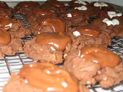 Chocolate Chocolate Marshmallow Cookies