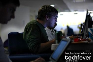 Computer hacker at the 1. Yahoo! Hack Day 2006 in Santa Clara, California