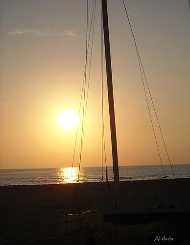 tramonto in Versilia