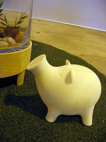A pig watering can! So adorable, I wanted to steal it.