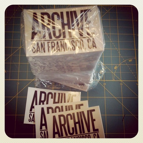 Clear Stickers by Archive Victor