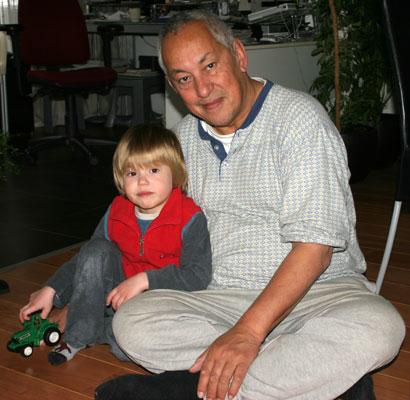 opa-kleinzoon-ziek