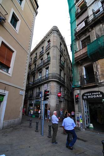 Walking around in Barcelona