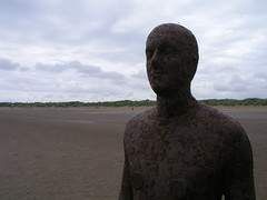 Antony Gormley's Another Place, Crosby Beach, Liverpool.