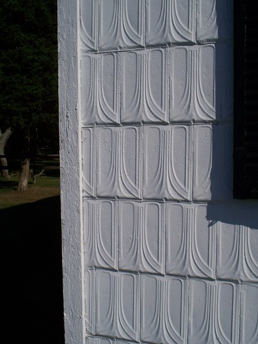 Detail of Siding on one of the Outbuildings