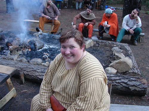 Sitting around the communal fire