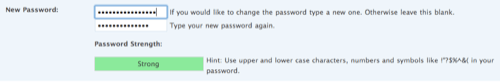 WordPress 2.5 Password Strength