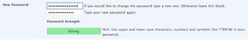 WordPress 2.5 Password Strength