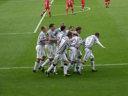 Queens Celebrate Their Late Equaliser