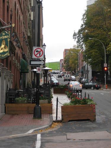 Expanded sidewalk in Halifax