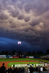 Storm with Mammatus Clouds - Las Vegas 51s Baseball Game by Crumblin Down