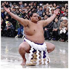 Akebono performing ritual