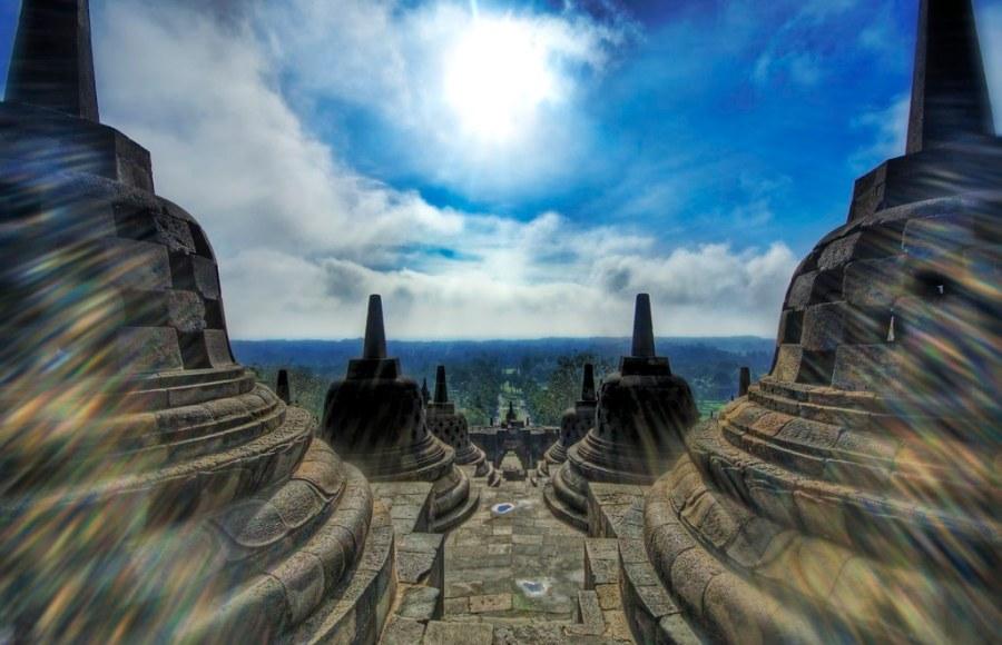 Borobudur at High Noon